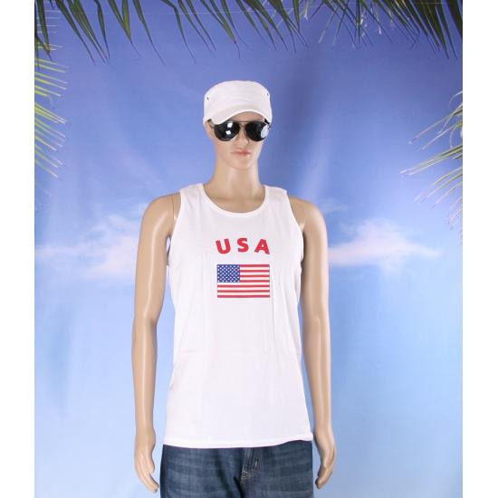 Amerika vlaggen tanktop/ t shirt