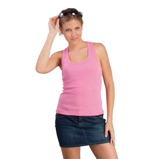 Basic dames tanktops roze Coconut