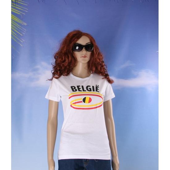 Belgie vlaggen t shirts voor dames