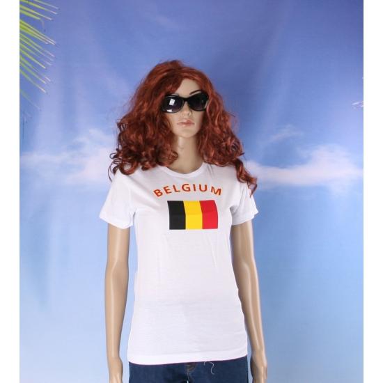 Belgische vlaggen t shirt voor dames