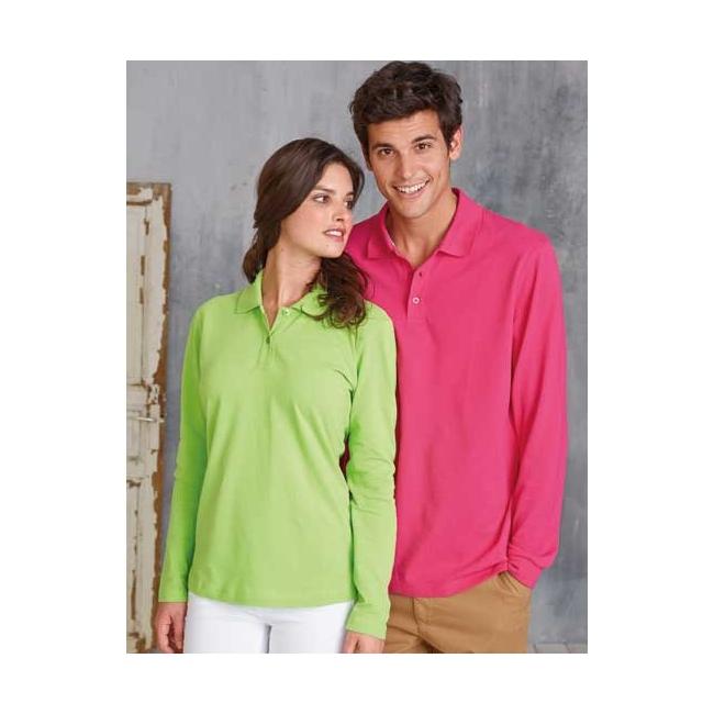 Big size neon poloshirt voor dames en heren