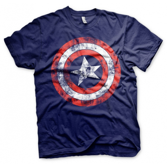Blauw Captain America t shirt