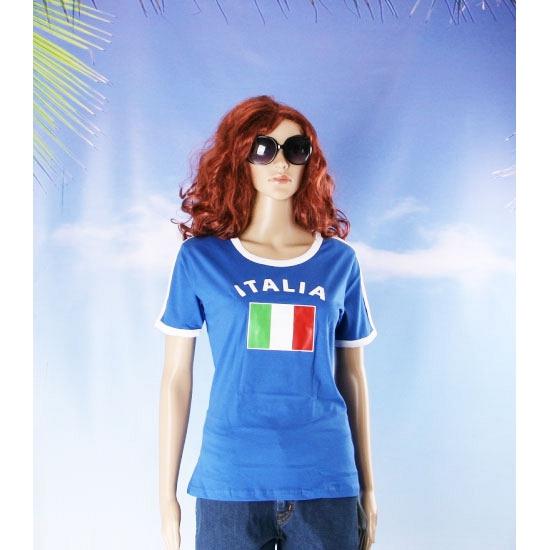 Blauw dames shirtje met Italie vlag