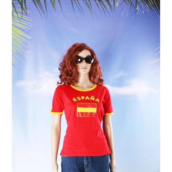 Blauw dames shirtje met Spanje vlag