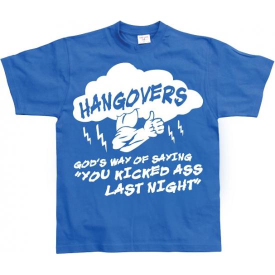 Blauw Hangovers t shirt