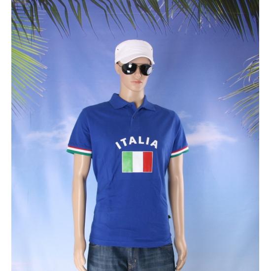 Blauw heren poloshirt Italie