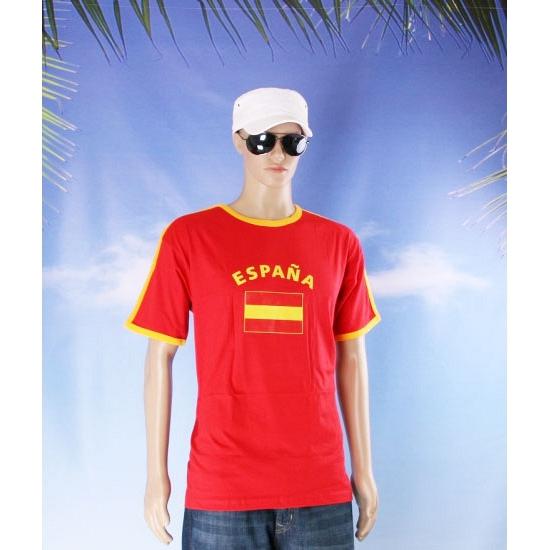 Blauw heren shirtje met Spanje vlag
