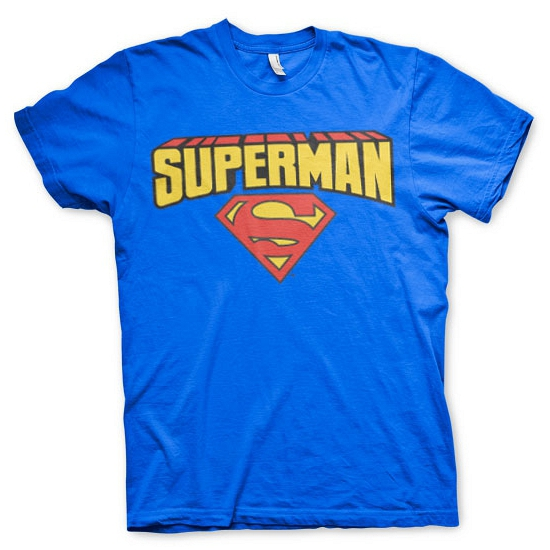 Blauw heren t shirt Superman