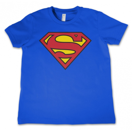 Blauw kinder t shirt Superman logo