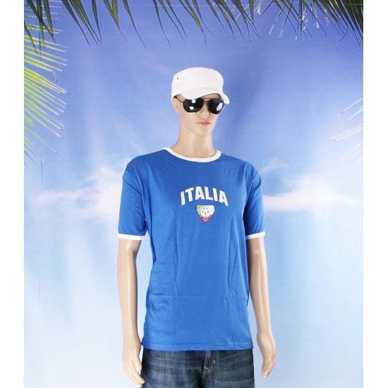 Blauw shirtje Italie print