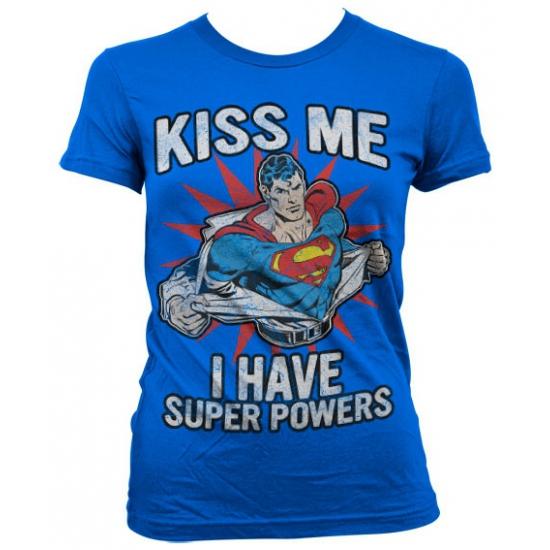 Blauw Superman girly t shirt