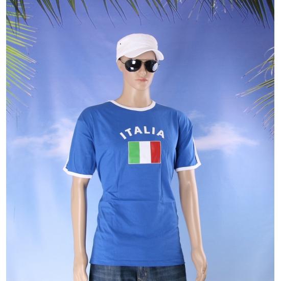 Blauw t shirt met Italy print heren