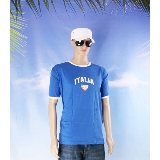 Blauw voetbalshirt Italie volwassenen