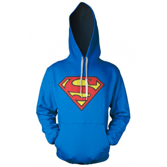 Blauwe capuchon sweater Superman logo