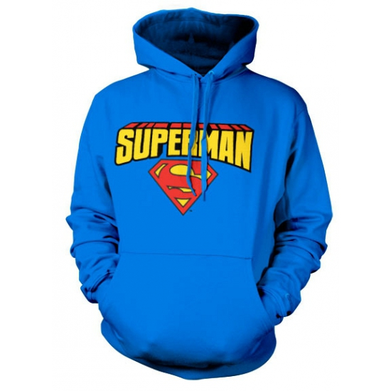Blauwe capuchon sweater Superman