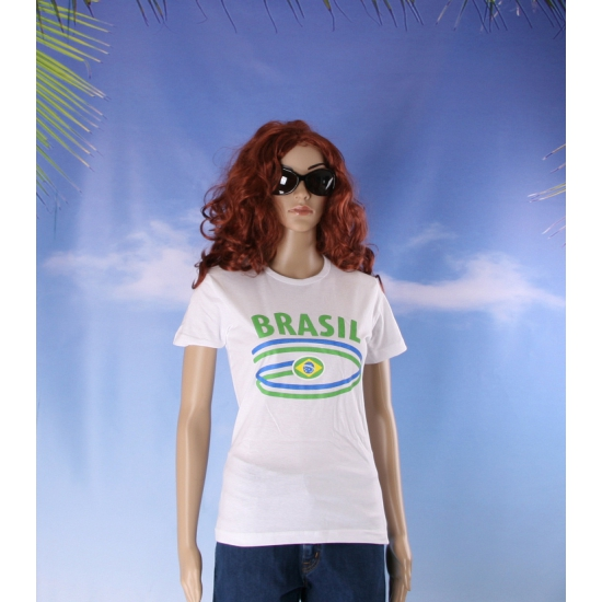Brazilie vlaggen t shirts voor dames