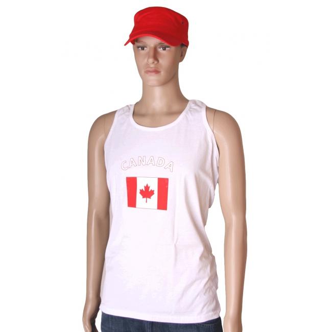Canada vlaggen tanktop/ t shirt