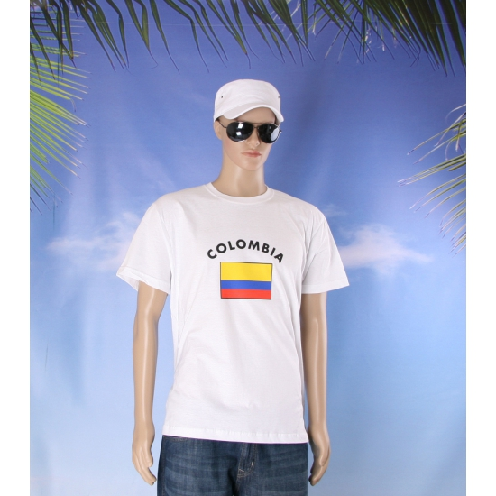 Colombia vlaggen t shirts