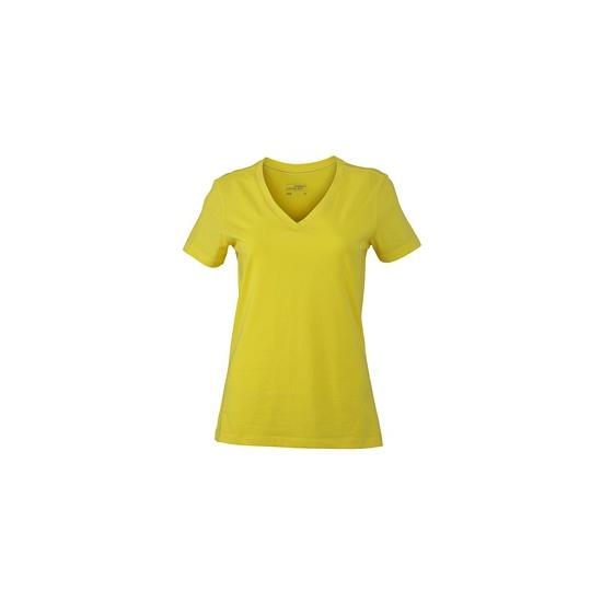 Dames cotton stretch shirts geel