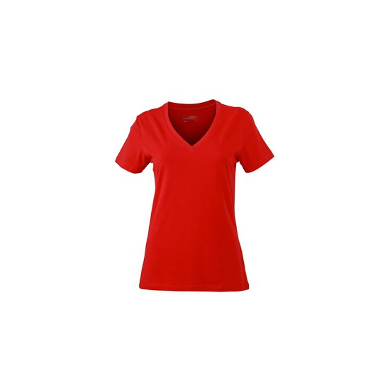 Dames cotton stretch shirts rood