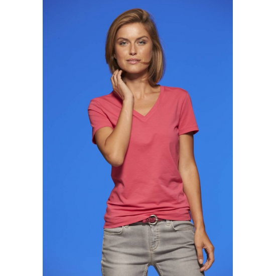Dames cotton stretch shirts roze