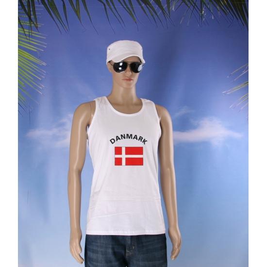 Denemarken vlaggen tanktop/ t shirt