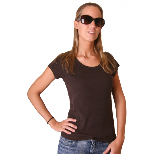 Donkerbruin dames t shirt Bella