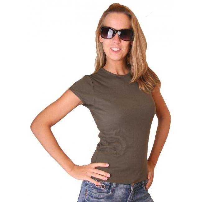 Donkergroen dames t shirt Bella