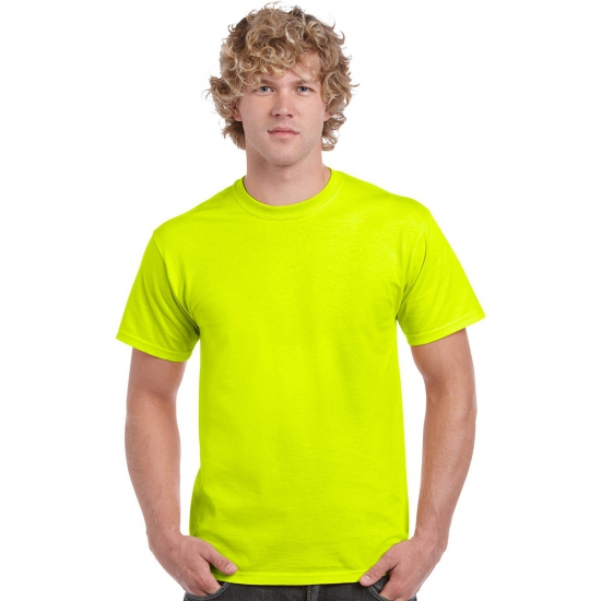 Fel gekleurd neon geel t shirt
