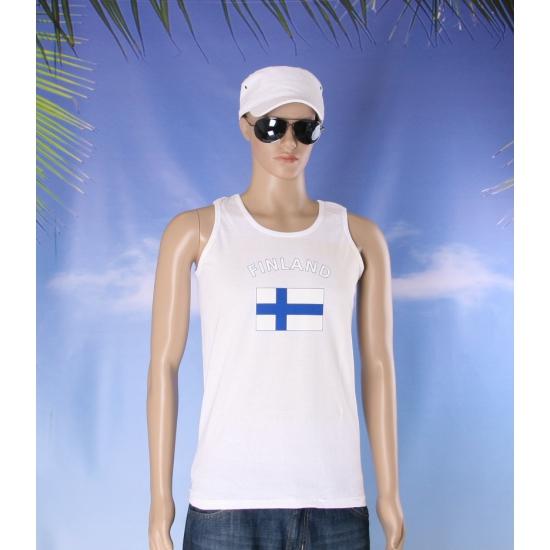 Finland vlaggen tanktop/ t shirt