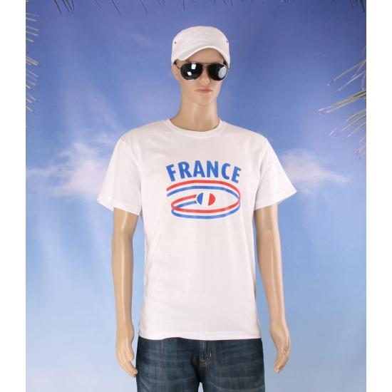 Frankrijk vlaggen t shirts voor heren