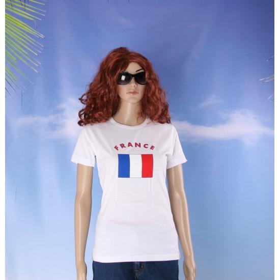 Franse vlaggen t shirt voor dames