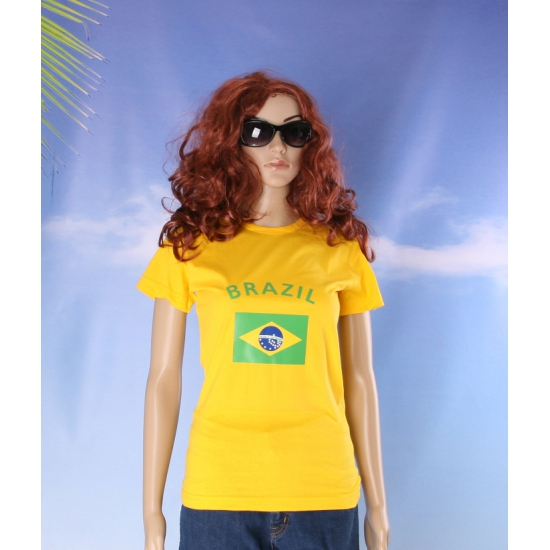 Geel dames t shirt Brazilie
