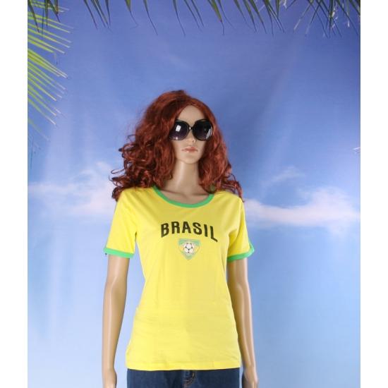 Geel dames voetbalshirt Brazilie
