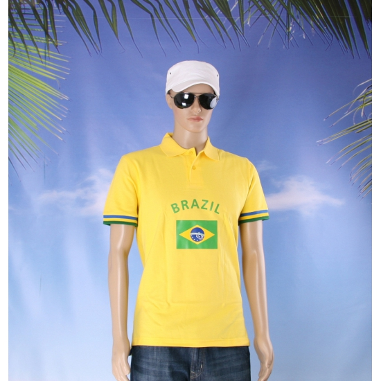 Geel heren poloshirt Brazilie