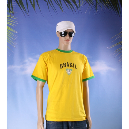 Geel shirt met Brasil voetbal print