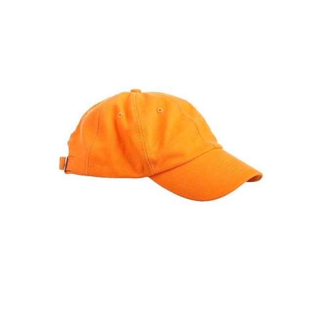 Gekleurde oranje baseballcaps