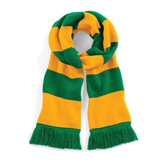 Gestreepte retro sjaal geel/groen