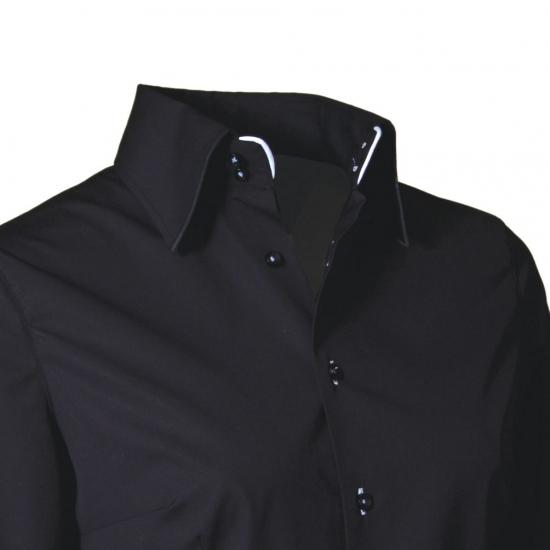 Giovanni Capraro overhemd zwart