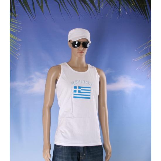 Griekenland vlaggen tanktop/ t shirt