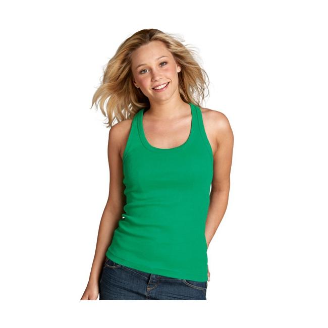 Groene mouwlose dames t shirts