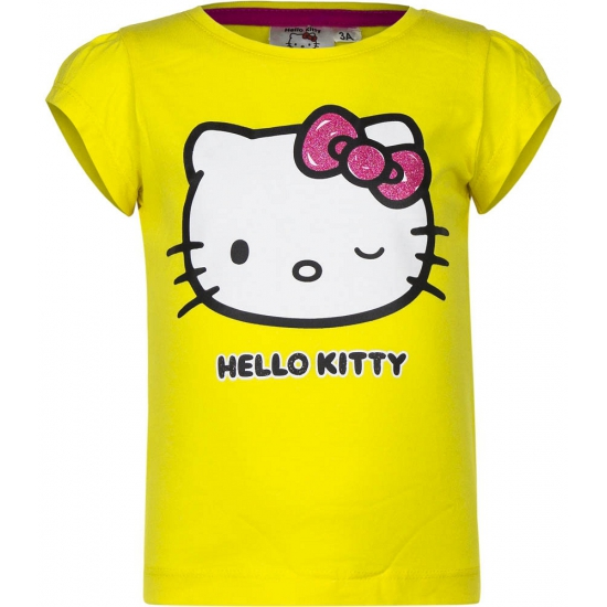 Hello Kitty t shirt geel
