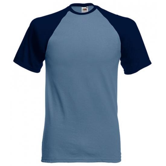 Heren t shirt blauw navy