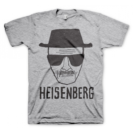 Heren T shirt Heisenberg Sketch grijs