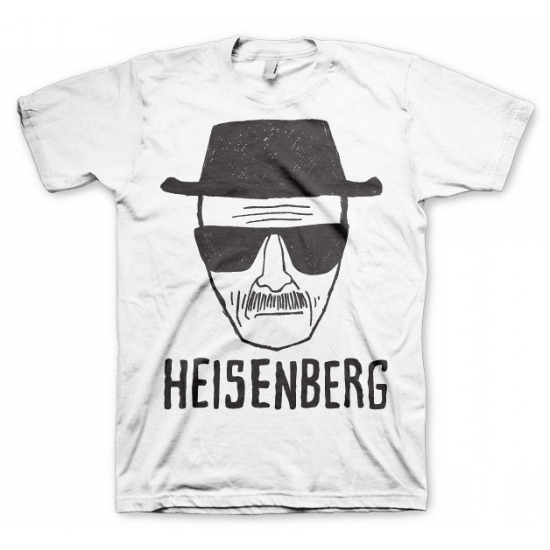 Heren T shirt Heisenberg wit