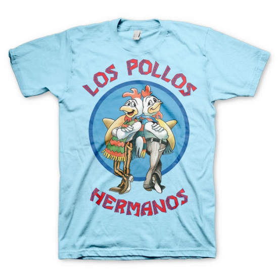 Heren T shirt Los Pollos Hermanos blauw