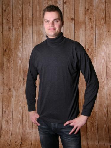 Heren t shirt met col antraciet