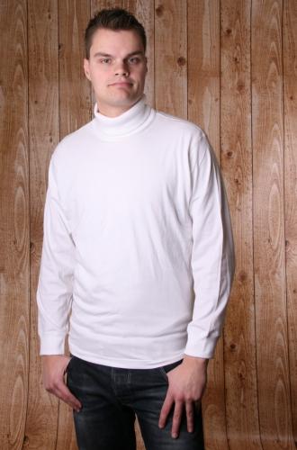 Heren t shirt met col wit