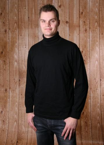 Heren t shirt met col zwart