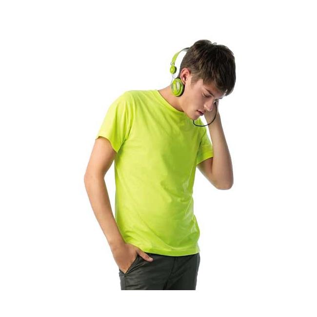 Heren t shirt neon geel